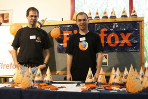 Mozilla Israel stand @ August Penguin 2009